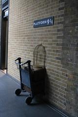 King's Cross. (Polly Ainsworth) Tags: london kingscross kings cross 93 harrypotter potterhead railway station train
