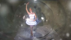 Giant Snow Globe (TributeProductions) Tags: giant snow globe life size ballerina bubble angel sphere holiday entertainment christmas