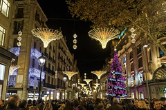 Portal de l'Angel Christmas Lights (Glenn Shoemake) Tags: barcelona christmas canonef1635f28lii