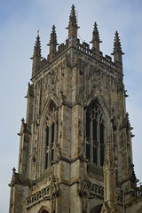 One of Three Towers of the Minster (CoasterMadMatt) Tags: pictures york city greatbritain november autumn windows england building tower english heritage history church window monument abbey stone architecture work religious photography town nikon worship place cathedral photos unitedkingdom britain stonework yorkshire united religion great north churches landmarks kingdom landmark carving structure christian east spire photographs gb british christianity gargoyles yorkminster creatures minster northeast attraction attractions grotesques mythical 2014 nikond3200 cityofyork d3200 coastermadmatt november2014 coastermadmattphotography yorklandmarks