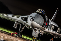 Night mission r (yph photography) Tags: eye field digital plane canon four photography wings paint air wing cockpit bulls example v engines maintenance vulcan bomber society raf preservation airfield avro surviving 655 wellesbourne yampy xm655 taxiable