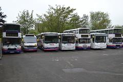 First Borders - Galashiels, Scottish Borders (dwb transport photos) Tags: bus first galashiels scottishborders 20300 20368 20371 30828 31688 56003 31447 wx54zhm r648hyg n958sos yn53vbv cv55amx cv55agz p593wsu