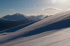 b0098 (Nath Millar) Tags: blue winter light shadow sky sun mountain snow mountains nature beauty norway wonder landscape norge outdoor awesome hike sula sulafjellet