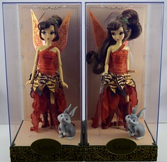 My Twin Designer Fawn Dolls - #441 and #2186 of 4000 - In Display Cases - Front View (drj1828) Tags: us twins doll designer release fawn purchase limitededition disneystore productinformation disneyfairies 1112inch disneyfairiesdesignercollection neverbeast