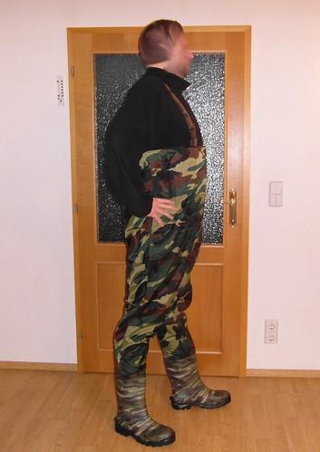 camo camouflage waders rubberboots gummistiefel chestwaders watstiefel wodery wathose spodniobuty ajgroup
