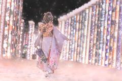 雪降る京友禅の光 (のの♪) Tags: