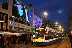 GVB Combino 2087, Lijn 14, Rembrandtplein (Don Maskerade) Tags: amsterdam promotion samsung tram rembrandt commercials gvb rembrandtplein combino lijn14 2087 galaxynote4