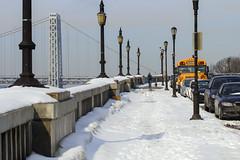 IMG_2831 (kz1000ps) Tags: street nyc newyorkcity winter light snow lamp newjersey post suspension manhattan sunny hudsonriver february gwb fortlee georgewashingtonbridge palisades washingtonheights riversidedrive henryhudsonparkway