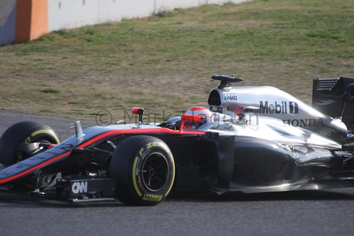 Jenson Button in Formula One Winter Testing 2015