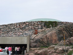 Entering Temppeliaukio Church