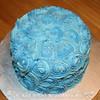 Eggnog Rosette Cake