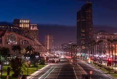 Harbor Drive (without reservation) Tags: california city bridge eastvillage night hotel bay downtown cityscape sandiego gaslamp harbordrive petcopark sandiegoconventioncenter americasfinestcity sonya7r