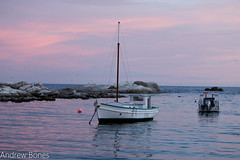 Sunset time (Andrew.Bones) Tags: pink sunset water boat exposure sail tasmania bicheno