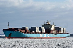 MSC Pilar (Auto350) Tags: container containership elbe msc eisgang containerschiffe stadersand
