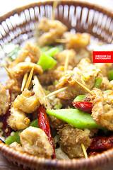 素牙签羊肉 (Mock Toothpick Mutton) (APERTURE X & THE CULINARY ADVENTURER) Tags: china food toothpick vegetarian chaozhou mockmutton