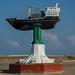 Somaliland - Berbera, old town, ship statue
