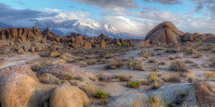 Calm morning (Fred Moore 1947) Tags: california clouds sunrise landscape rocks unitedstates desert lonepine easternsierra alabamahills droh dailyrayofhope dailyrayofhope2015