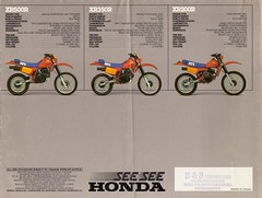 1983 Honda Motorcycle Brochure (Cory Gurman) Tags: road bike st honda winnipeg mini manitoba motors dirt motorcycle 1983 bb brochure annes fourstroke xr500r winnipegmanitoba xr350 xr200r