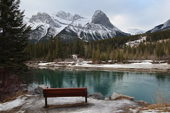 HBM Happy bench Monday (davebloggs007) Tags: river bench happy bow monday canmore albertacanada hbm