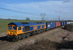 No 66730 Whitemoor 23rd Feb 2015 Belstead (Ian Sharman 1963) Tags: train hall no great railway trains 66 class container feb eastern railways 23rd freight felixstowe hams mainline freightliner 2015 geml railfreight whitemoor belstead gbrf 66730 4m23
