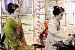 Maiko (Teruhide Tomori) Tags: portrait woman girl beauty festival japan lady kyoto maiko   kimono tradition   kitanotenmangu baikasai ef70200mmf28l    canoneos5dmark