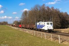 Lokomotion 139 555 mit Schrottzug (TheKnaeggebrot) Tags: traction rail company 139 rtc kbs 950 bahnübergang vogl lokomotion 139555 schrottzug