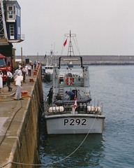 Photo of 19900505 104 Fishguard Harbour. Royal Navy Patrol Vessel. P292 'CHARGER'
