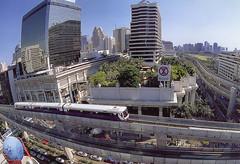 Pictures of a postcard - Thailand - Bangkok / Krung Thep (railasia) Tags: panorama thailand bangkok postcard siemens infra thirdrail circa2000 emu3 silomline routenº2 patumwanbts