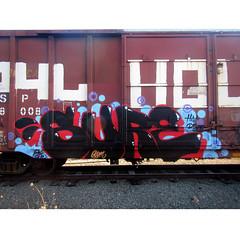 SURE (2ONE5-1981 (S.O.B.A.)) Tags: train bench graffiti northwest rail boxcar graff westcoast freight fr8 americansteel