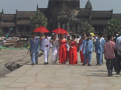 Wedding Processing at Angkor Wat