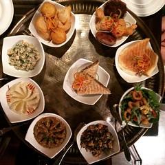 The sampler platter at #Ubhar. #OmaniCuisine #Muscat #Oman