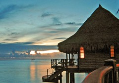 Evening at Hotel KIAORA Tahiti Rangiroa (sapphire_rouge) Tags: france resort lagoon tahiti atoll rangiroa polynesia snorkeling brother  franchpolynesia    atool polynsiefranaise  sunset  island kiaora