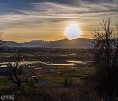 Comox Valley (amienasichuk) Tags: sunset mountains farm farmland glacier comox comoxvalle