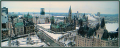 Ottawa- A Panoramic View (bigbrowneyez) Tags: windows winter sky snow ontario canada cars beautiful skyline architecture buildings march fantastic downtown rooftops pov gorgeous awesome ottawa gothic perspective parliament panoramic roofs stunning copper trucks roads fabulous brilliant breathtaking highup ops patina thecapital chateaulaurierhotel ottawaapanoramicview capitalofottawa