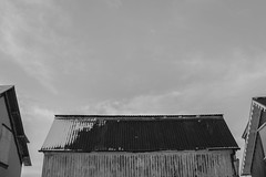 (Katrn Bjrg) Tags: old sky blackandwhite bw house abandoned reykjavik oldhouse