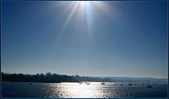 Blue Horizon (> Pinoy) Tags: ocean blue sea sky seascape reflection nature beauty sunshine skyline canon reflections landscape boats star glare horizon skylines blues beam explore blueskies oceans sunbeam clearsky seas sunbeams canonpowershot horizons beaming bluehorizon horison canonphotography johnduesbury