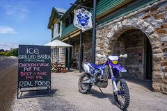 Lunch stop (scotty-70) Tags: pub sony yamaha wr450f capertee nex5r