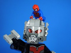 Please Get Off (MrKjito) Tags: man america giant war iron lego spiders ant spiderman peter civil captain superhero minifig marvel universe cinematic crawl parker webs avengers