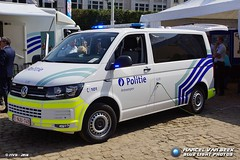 Belgian Police - VW T5 Transporter (1-NJU-749) (Falcon1366) Tags: belgi belgium politie police brussel bruxelles feestdag 2016 defile politiedorp
