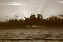 SUNRISE IN BLACK AND WHITE (R. D. SMITH) Tags: ocean sea sky nature sunrise outside dawn florida atlanticocean naturephotography canoneos7d