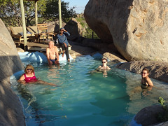 Wild Dog Safari Tour Group at Hoada Community Campsite Pool, Kamanjab, Namibia (dannymfoster) Tags: africa namibia kamanjab campsite hoadacampsite pool