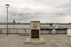 Merchant Navy War Memorial (new folder) Tags: sculpture liverpool river publicart warmemorial pierhead bunting liverpoolbiennial rivermersey merchantnavywarmemorial liverpoolbiennial2016