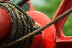 20160625-07_Crane _Metal Rope_Hauser_Braunston Marina (gary.hadden) Tags: red crane teeth rope cogs gears hauser redpaint braunstonmarina