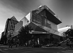 Library (tomas.restrepo) Tags: architecture blackandwhite building library seattle