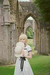 Saber (Blue Changhui Lee) Tags: saber zerosaber fatezero  glastonbury abbey king arthur  fatestaynight fsn arturiapendragon