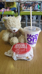 Honeycomb Got A Treat (Katie_Russell) Tags: bear ireland food toy toys teddy drink burger fastfood mcdonalds drinks burgers teddybear northernireland ni brownies ulster nireland norniron coleraine countylondonderry countyderry coderry colondonderry brownieguides colderry countylderry