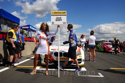 Jack Goff's car during the Grid Walks at the BTCC 2016 Weekend at Snetterton