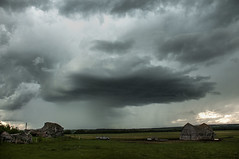 Small storm (Len Langevin) Tags: alberta storm thunder cloud sky hail prairie weather canada nikon d300 nikkor 18300