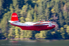 Slow Pan for a Slow Boat (Jason Pineau) Tags: cflyl martin jrm3 mars coulson flying tankers water bomber firefighting boat seaplane floatplane sproat lake bc takeoff panning britishcolumbia vancouverisland