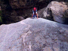 Hard climbing out of the pit of the waterfall (angeloska) Tags: cliffs ikaria may hikingtrails opsikarias aegean greece signage      chalares upperchalares dipotama ratsos   swimmingholes